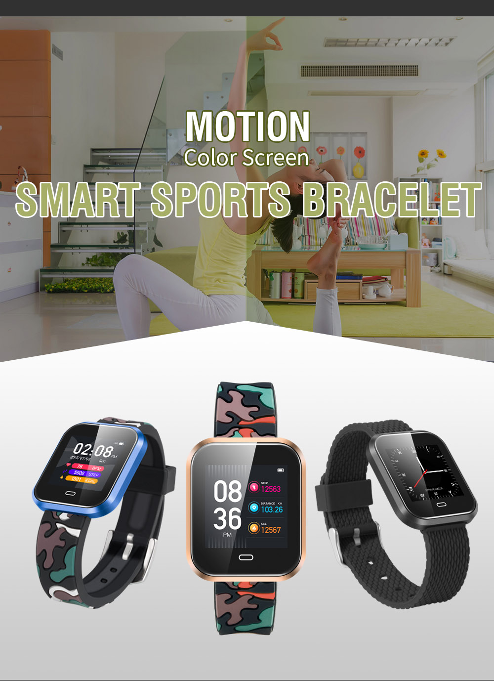 Hot saleCD16 Smart Bracelet Heart Rate 1.3 Inch Screen Fitness Tracker Smart wristband Blood Pressure for Android IOS