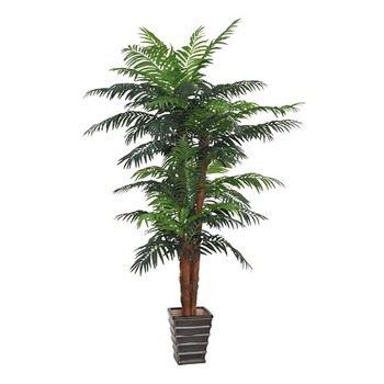 Factory Direct Wind Resistant Artificial Palm Trees Tree Pots