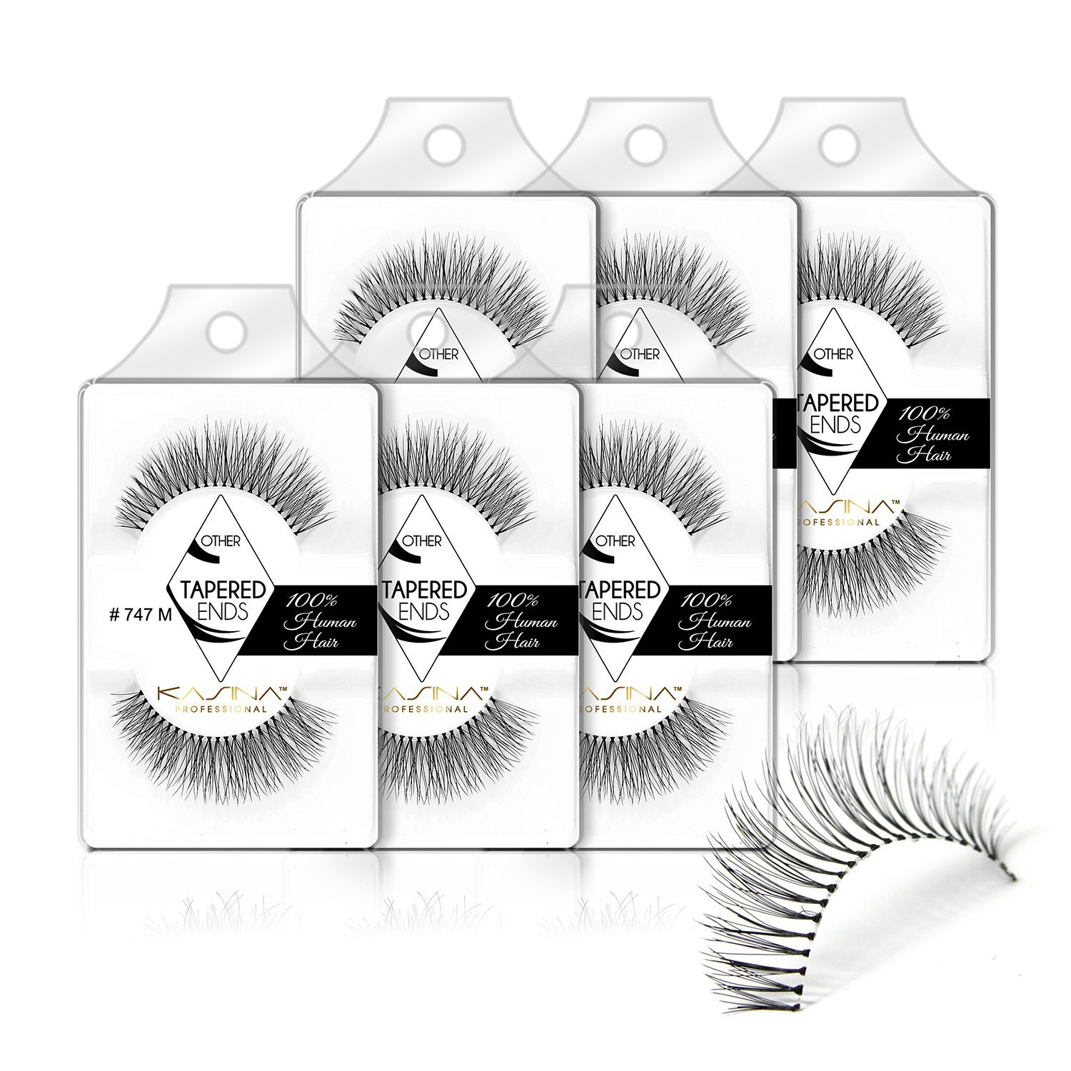 5a8f79a1074 Get Quotations · [Pack of 6] 747M False Eyelashes Tapered ends(Same Factory  & Production Line