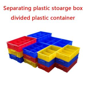 Separating Plastic Storage Box with dividers and clip panels