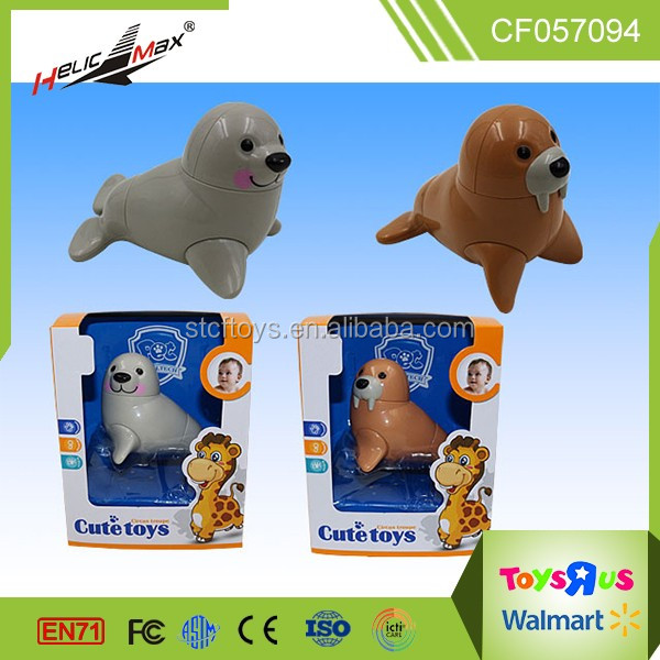 2016 Lovely Twist Dolphin Sea Lion Model Shape Cute Plastic Toy for Baby Playing