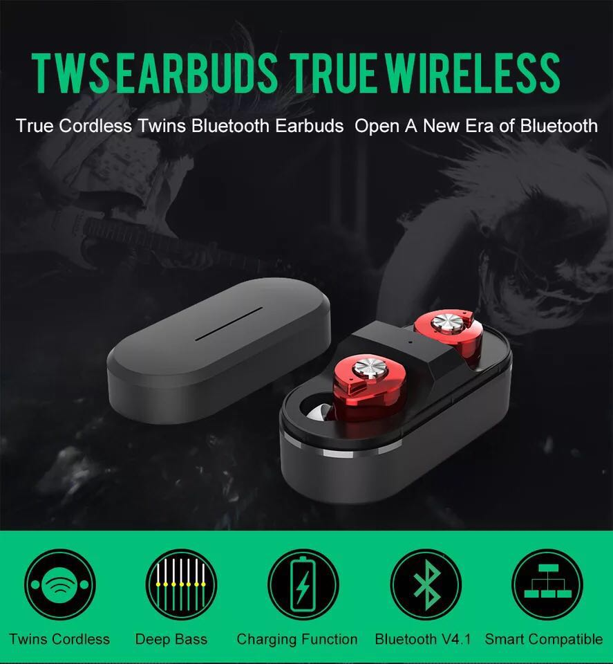 Best compatibility Twins earbuds <strong>Bluetooth</strong> V4.1 earphone with charging case