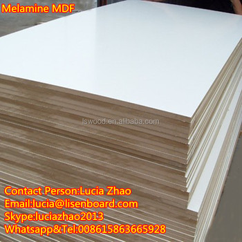 Melamine Plates No Paint Surface Finishing White Plywood Used For Whiteboard