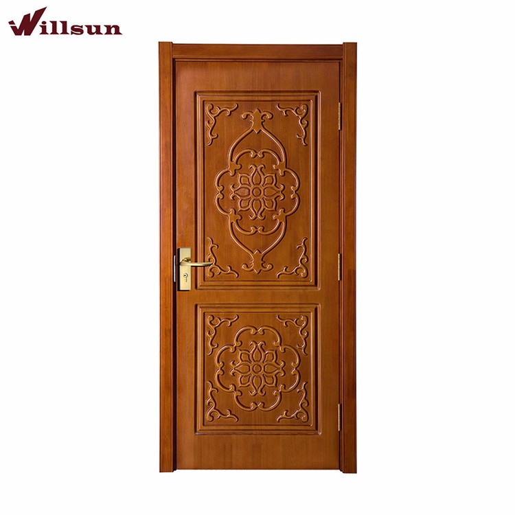 China Factory Kerala Door Designs India House Gate Solid Nature Teak