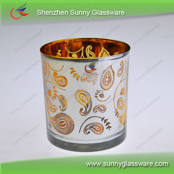 wholesale wedding decorations gold glass votive candle holders