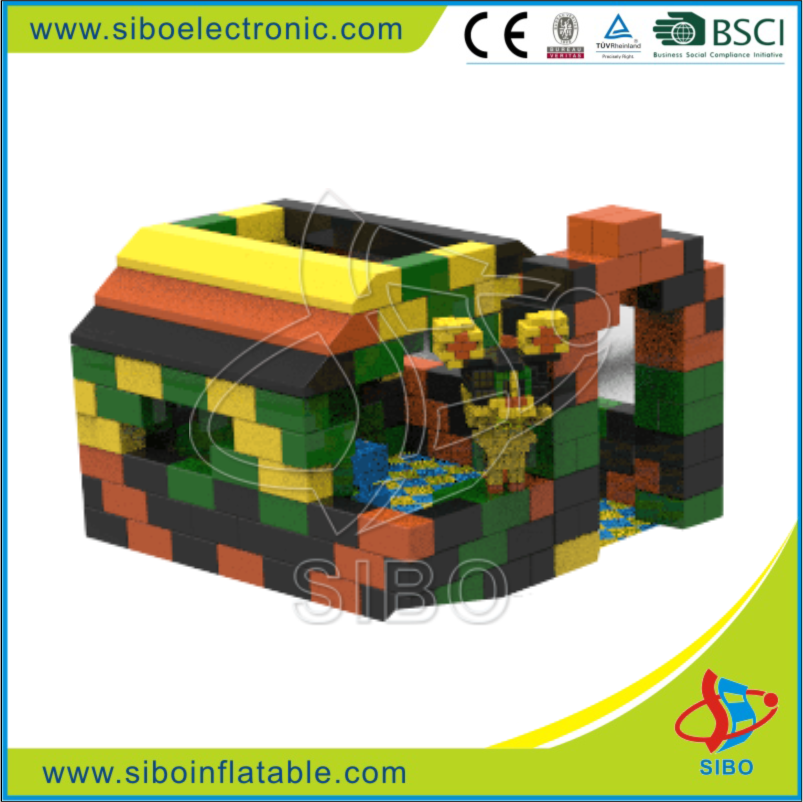 Factory supply quality assured foam kids block building indoor playground