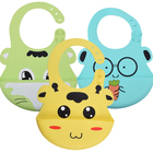 China Factory FDA and LFGB Approval Food Grade Silicone Baby Bibs Waterproof Bibs