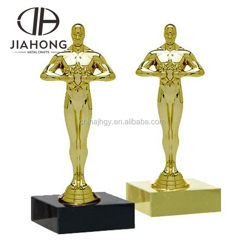 free design polished gold factory diy souvenir trophy cup with star and figure