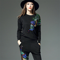 S XL Plus Size Suits Spring Autumn New Sweater Harem Pants 2 Piece Sets Elegant Women