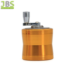 Hand Cranked Zinc Alloy Tobacco Weed Grinder With Spice 4 Parts