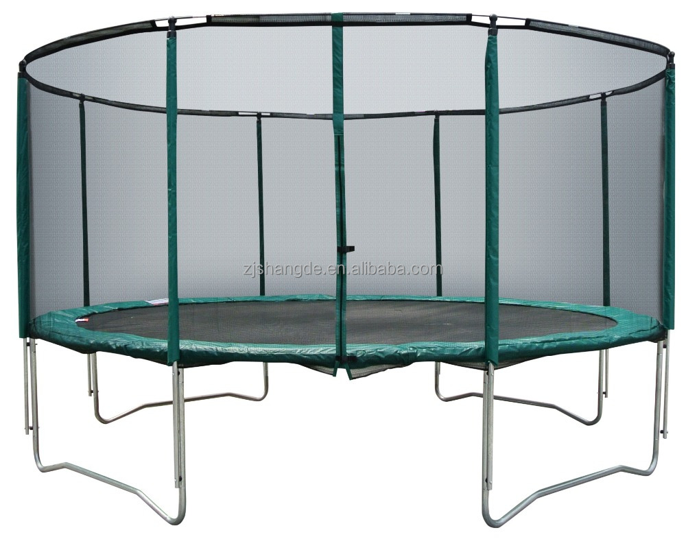 14ft trampoline tent is trampoline jumping bed with safety net and trampoline elastic