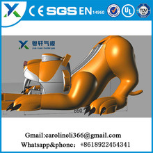 2017 new advertising promotional products cartoon model gas giant inflatable dog for sale