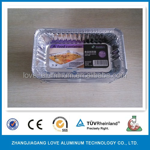 High Quality Food Grade Hot Sale Recyclable Household Environmental ISO9001 ISO14001 SGS FDA Disposable Aluminum Foil Baking Pan
