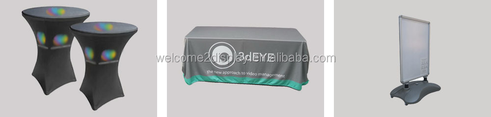 6ft printed spandex table cloth