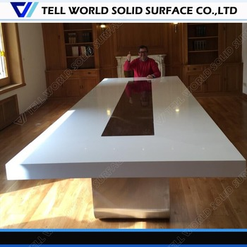 High Quality Acrylic Solid Surface Boardroom Tableu Shaped - V shaped conference room table