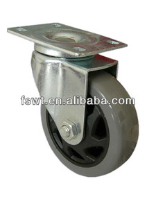 3 inch grey office chair swivel pu caster wheel