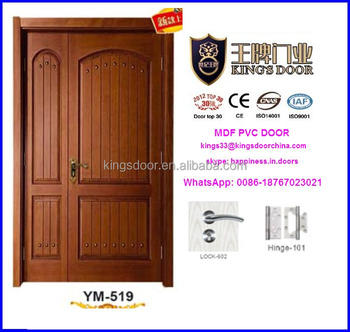Wonderful Latest India Teak Wood Double Main Door Design