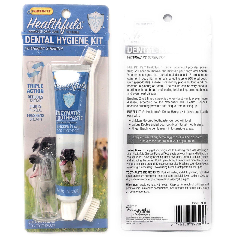 Enzymatic Toothpaste for Dogs Dental Kit Dog Toothpaste Toothbrush Fingerbrush for Freshen Breath