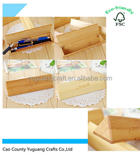 Triangle Wooden Pencil Box, Office Wooden Box , New Design Student Study Wooden Pencil Box