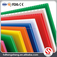 Manufacture price custom color pp corrugated uv resistant plastic sheet for sale