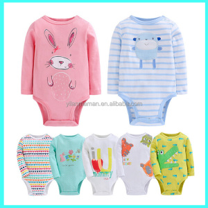 Wholesale Uk newborn fashionable pretty baby romper 100% cotton infant clothes