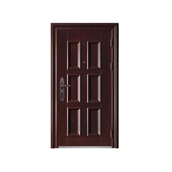 Acero galvanizado puerta de entrada doble puertas - Puerta de acero galvanizado ...