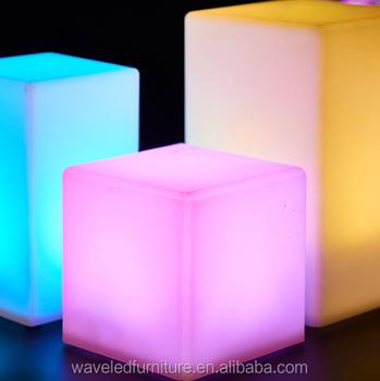 Super Acryl Led Cube Led 16 Kleuren Veranderen Licht Kubus - Buy BK-12