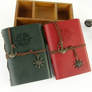 Made in China high quality eco friendly pu leather pocket diary vintage kraft paper travelers notebook