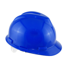 PE materials V type blue color construction safety helmet price