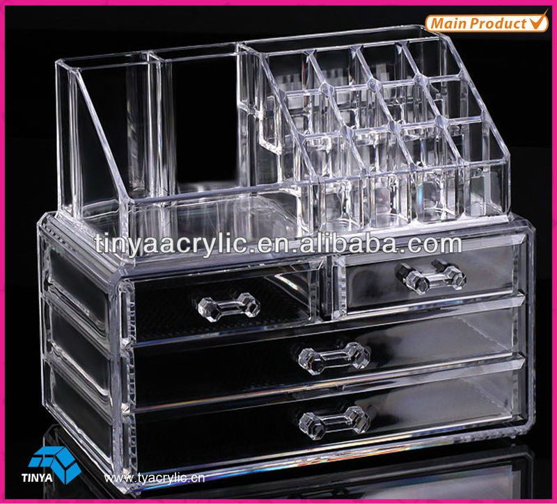 Acrylic Makeup Organizer Clear Case Luxury Crystal Storage Buy - Acrylic makeup organizer