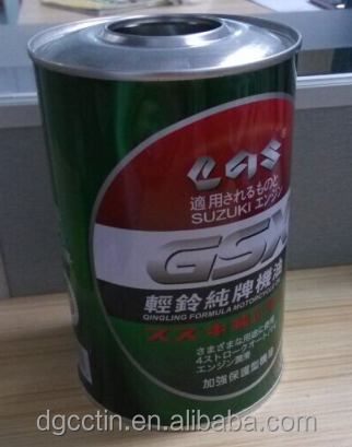 Factory directly 1 Liter engine oil tin can