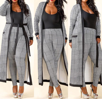 Whole Office Clothing Plus Size Outfit Women Pants And Coat