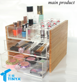 China supplier new design pretty plastic clear plastic makeup organizer with drawers & China Supplier New Design Pretty Plastic Clear Plastic Makeup ...
