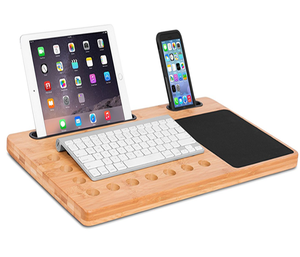 Laptop Cooler stand With Slim Portableor bamboo lap desk bed tray from xiamen port