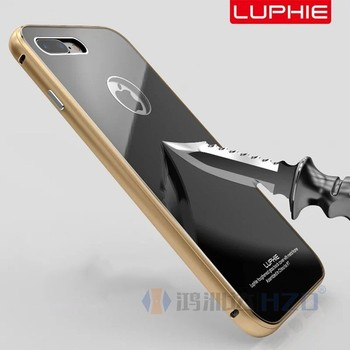 premium selection 5948a 11977 Luphie Sliding Back Series Aluminum Metal Bumper Frame +tempered Glass Case  For Iphone 7 7 Plus Iphone7 Al-022 - Buy Luphie Aluminum Metal Bumper Case  ...
