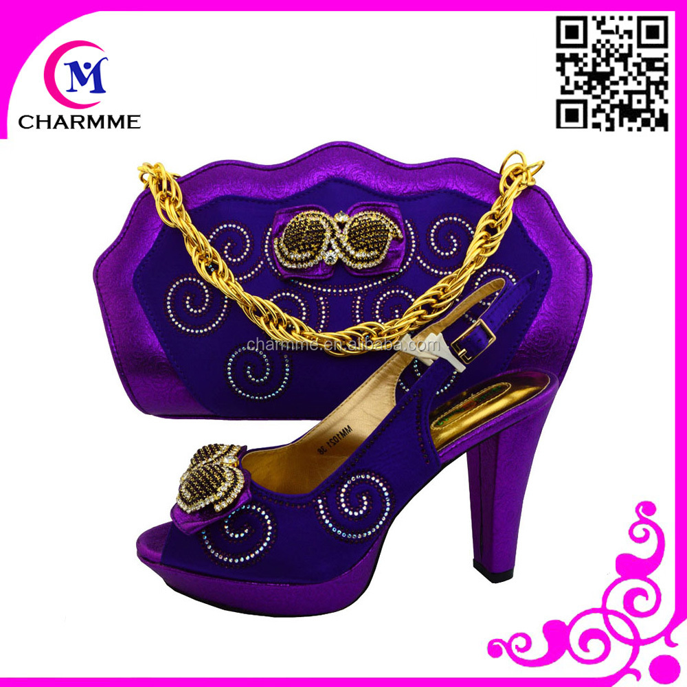 italian shoes matching purple set bags for party heel bags high shoes RxdnncWTH