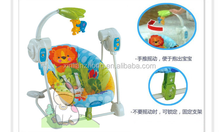 Hot Sales Rainforest Friends Space Saver swing & seat Electric baby swing chair