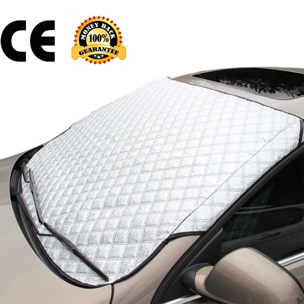Get Quotations · Car Sun Shade Protector Snow Windshield Cover Thick Cotton  Car Window Covers All Weather Windshield Covers d47113bd5f8