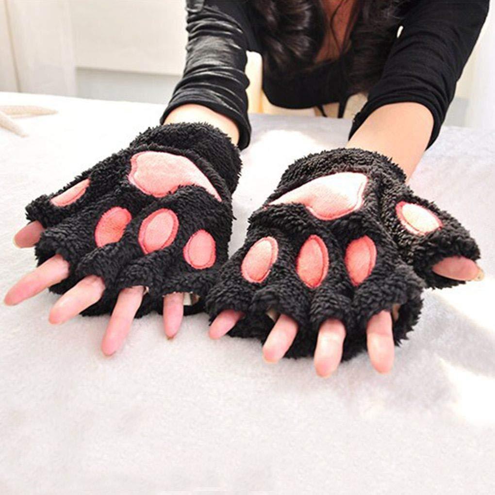 Hongxin Cartoon Rabbit Baby Gloves Kids Thicken Rope Full Finger Warm Knitted Gloves