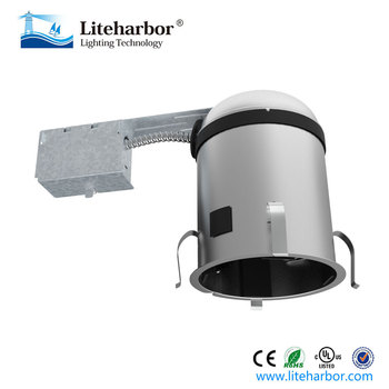 5 inch remodel ic airtight led or compact fluorescent recessed