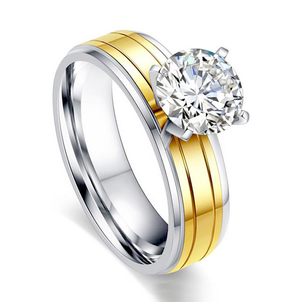 Wholesale Wedding Engagement Charm Fashion Round Rings For