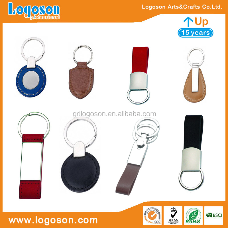 Custom Leather Keychain Personalized Leather Key Chain Wholesale Colorful Leather Ring