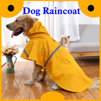 Reflective waterproof pet dog rain coat