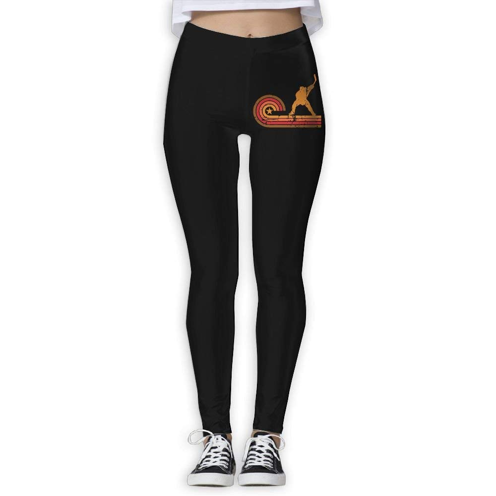 DDCYOGA Retro Style Slap Shot Silhouette Hockey Women's Power Flex Yoga Pants Fitness Yoga Sport Pants For Women