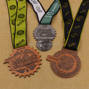 2D design gold / silver / bronze cycle series race metal medal