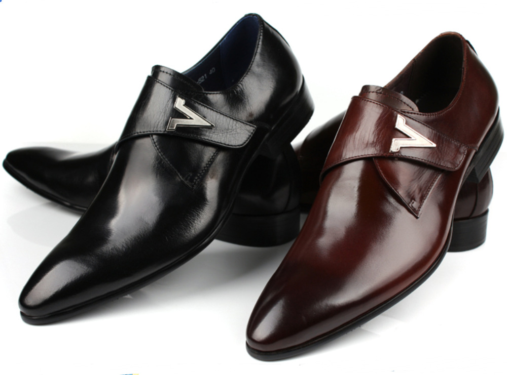 Buy 2015 Mens Flats Brown Tanblack Buckle Mens Casual Business