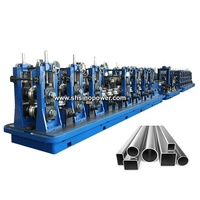 Square pipe roll forming machine used Automatic steel ERW pipe mill line machine to make square tube