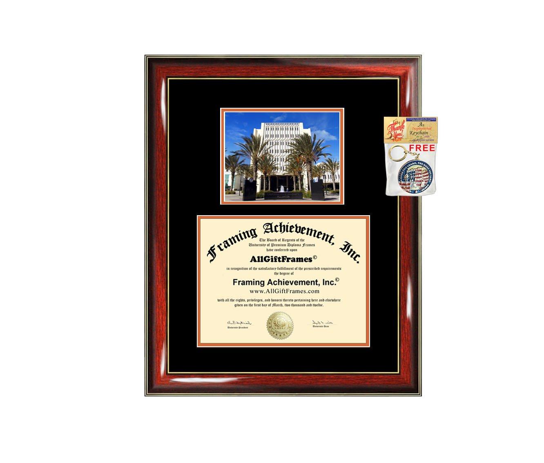 California State University Fullerton Diploma Frame - CSUF Graduation Degree Frame - Matted Campus College Photo Graduation Certificate Plaque University Framing Graduate Gift Collegiate