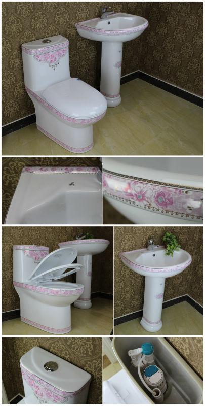 Pink Decor Ceramic Toilet Bathroom Sanitary Wares Buy