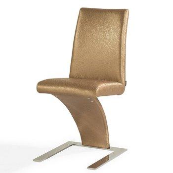 Gold z shape dining chair buy z dining chair z shape for Z shaped dining chair